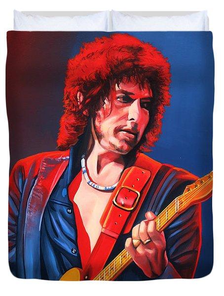 Bob Dylan Painting Duvet Cover