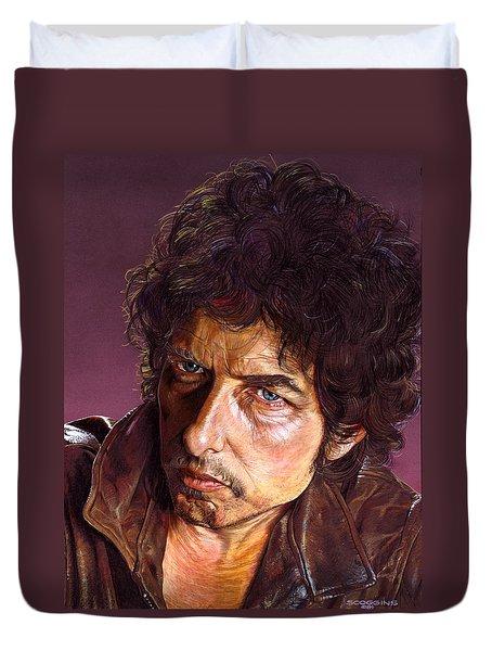 Bob Dylan Duvet Cover by Timothy Scoggins