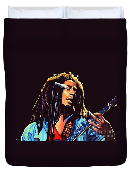 Bob Marley Duvet Cover by Paul Meijering
