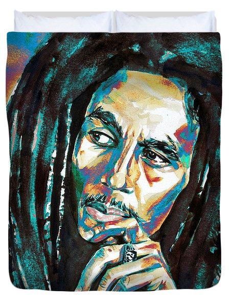 Bob Marley Watercolor Portrait.7 Duvet Cover