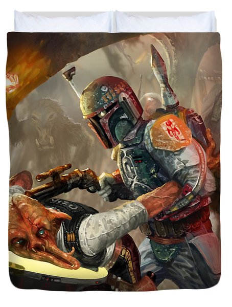 Boba Fett - Star Wars The Card Game Duvet Cover