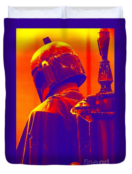 Boba Fett Costume 2 Duvet Cover by Micah May