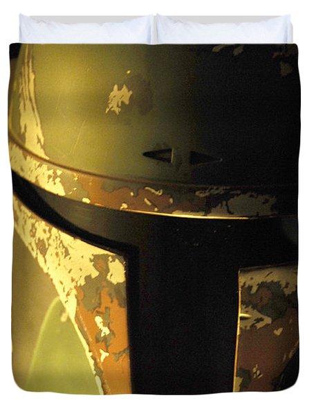 Boba Fett Helmet 124 Duvet Cover
