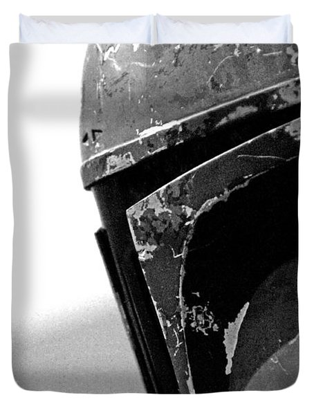 Boba Fett Helmet 24 Duvet Cover