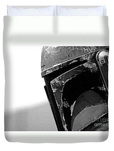 Boba Fett Helmet 27 Duvet Cover by Micah May