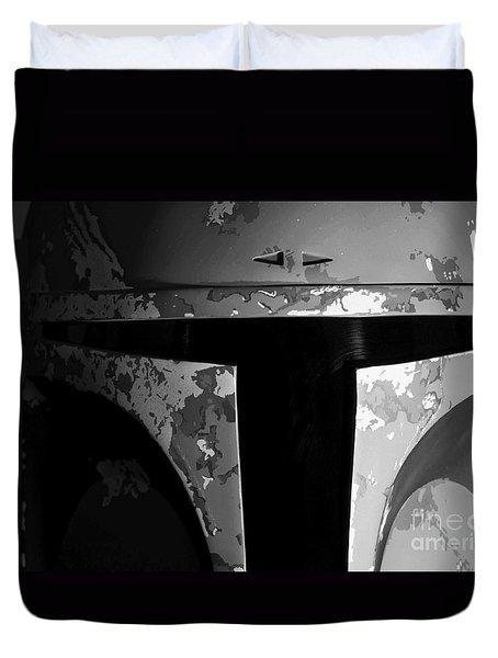 Boba Fett Helmet 29 Duvet Cover