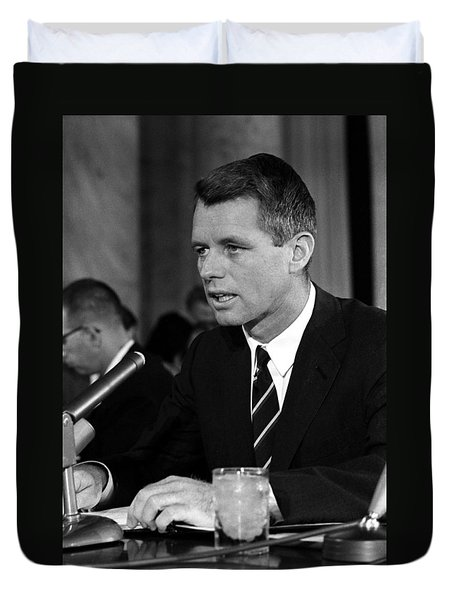 Bobby Kennedy Speaking Before The Senate Duvet Cover by War Is Hell Store