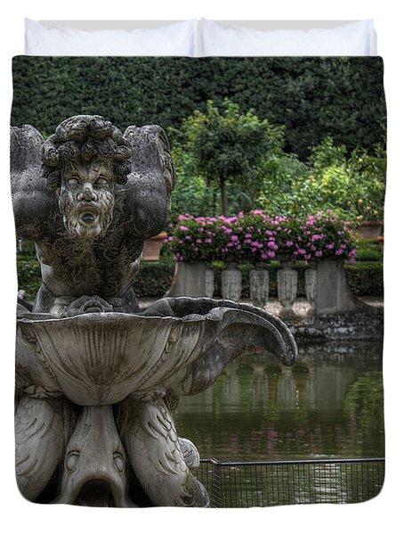 Boboli Fountain Duvet Cover