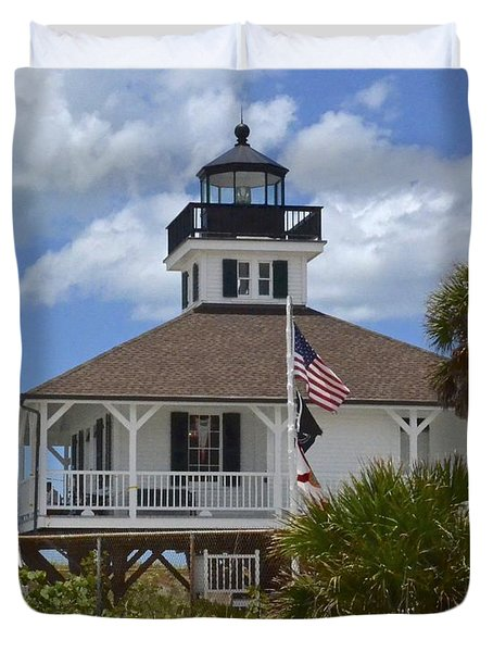 Boca Grande Lighthouse Duvet Cover