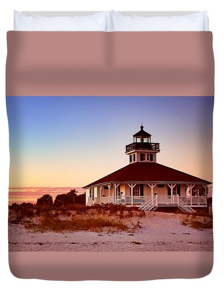 Boca Grande Lighthouse - Florida Duvet Cover