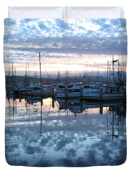 Duvet Cover featuring the drawing Bodega Bay Sunrise by Dianne Levy