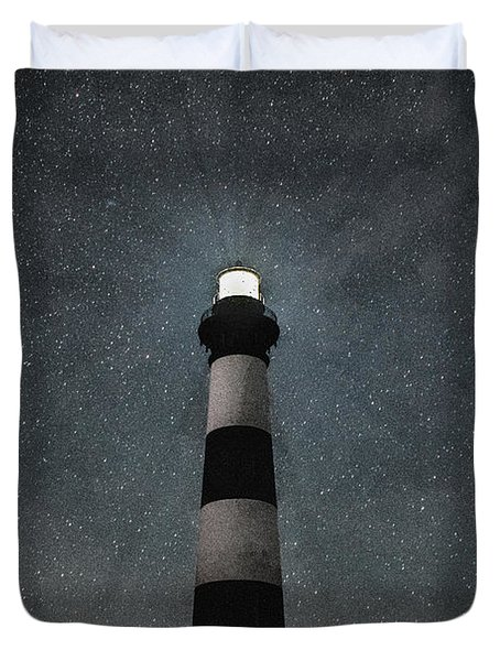 Bodie Island Light Midnight Duvet Cover