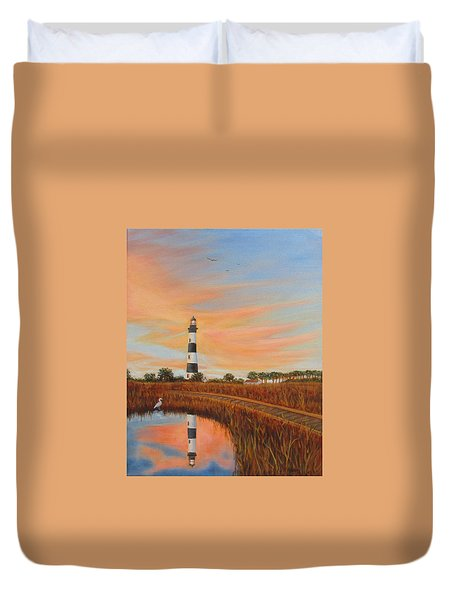 Bodie Island Lighthouse Duvet Cover