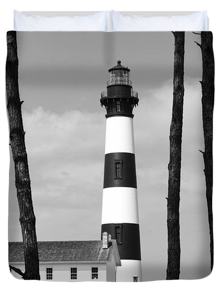 Bodie Island Lighthouse In The Outer Banks Duvet Cover