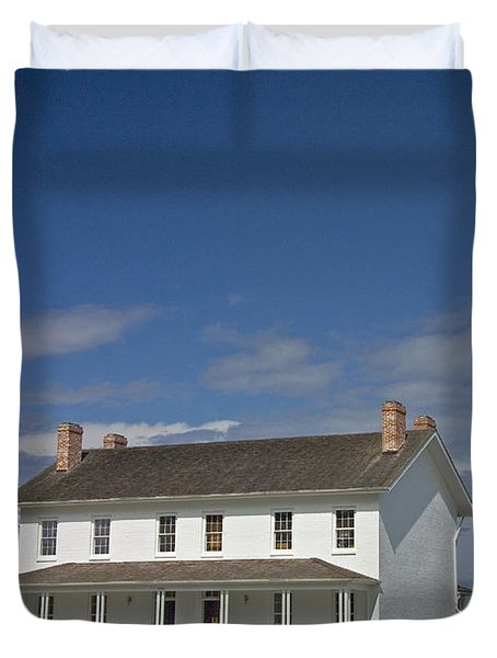 Duvet Cover featuring the photograph Bodie Lighthouse Obx by Greg Reed
