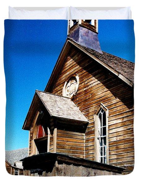 Bodie Methodist Church Duvet Cover by Barbara Snyder