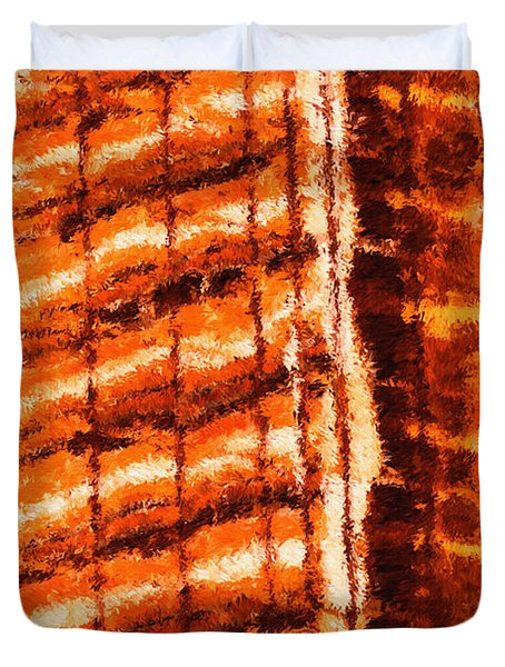 Body Heat Duvet Cover by Ayse Deniz