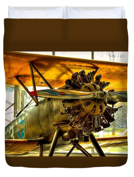 Boeing 100p Fighter Duvet Cover by David Patterson