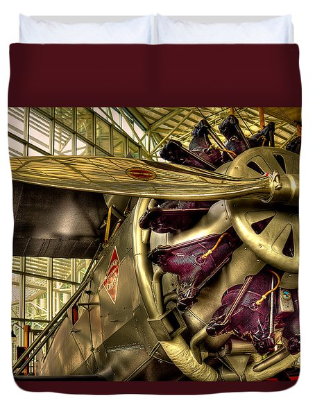 Boeing 80a-1 Passenger Airplane Duvet Cover by David Patterson