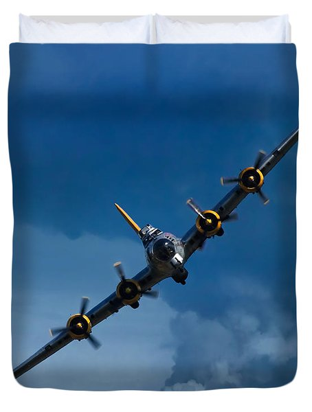 Boeing B-17 Flying Fortress Duvet Cover by Adam Romanowicz