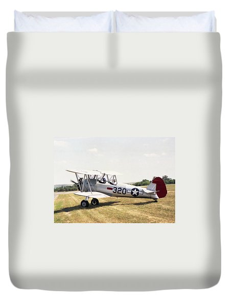 Duvet Cover featuring the photograph Boeing Stearman by Paul Gulliver