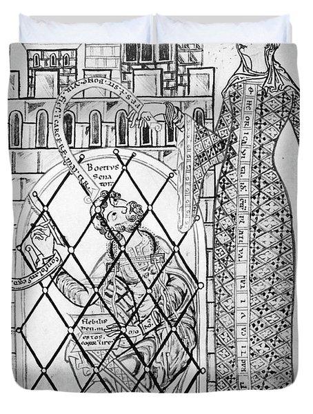 Boethius (c480-c524) Duvet Cover