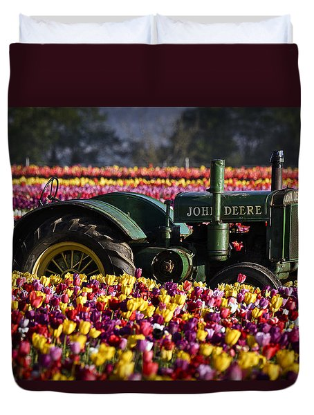 Bogged Down By Color Duvet Cover by Wes and Dotty Weber