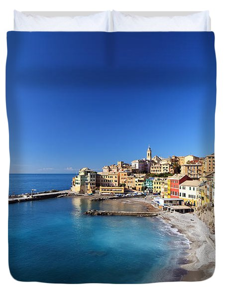 Bogliasco Village. Italy Duvet Cover by Antonio Scarpi