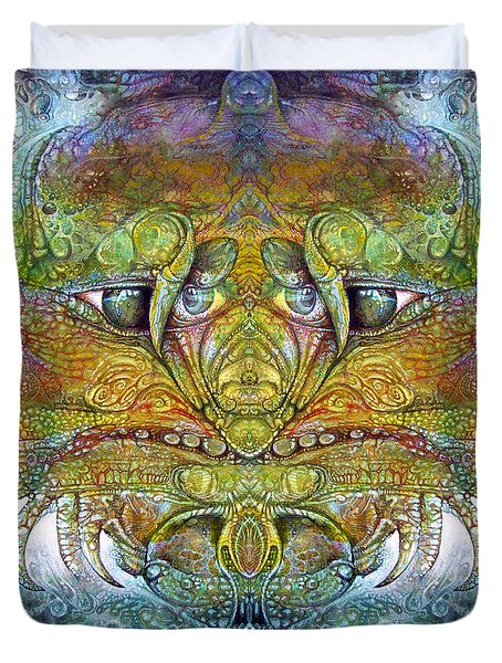 Duvet Cover featuring the digital art Bogomil Variation 11 by Otto Rapp