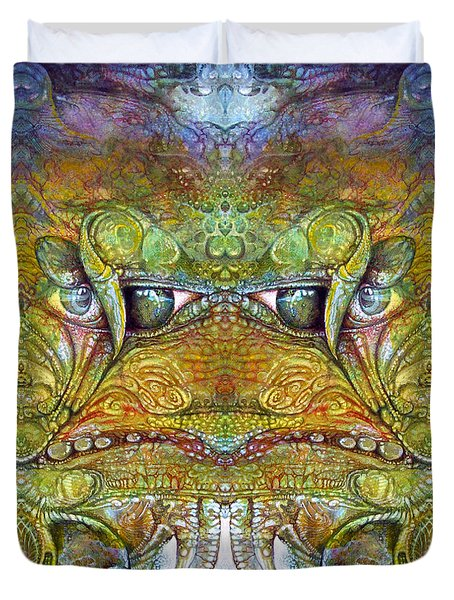 Duvet Cover featuring the digital art Bogomil Variation 12 by Otto Rapp