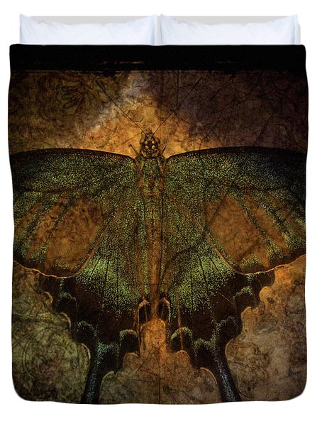 Bohemia Butterfly - Art Nouveau Duvet Cover by Absinthe Art By Michelle LeAnn Scott