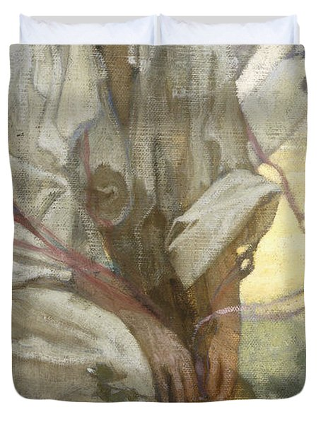 Bohemian Sun Dreamer Duvet Cover by Alphonse Marie Mucha