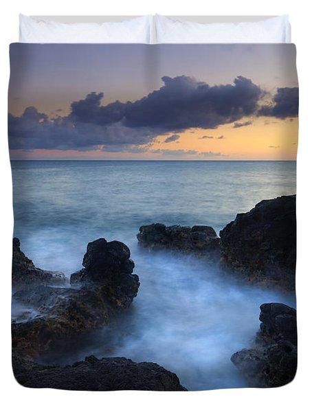 Boiling Sea Duvet Cover by Mike  Dawson