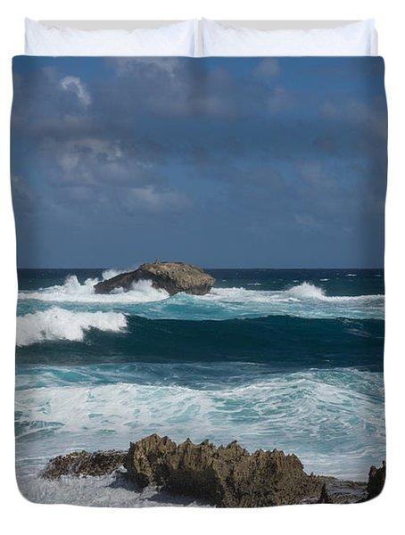 Boiling The Ocean At Laie Point - North Shore - Oahu - Hawaii Duvet Cover