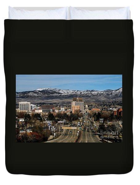 Boise Idaho Duvet Cover by Robert Bales