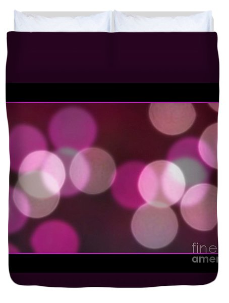 Duvet Cover featuring the photograph Bokeh Dots by Chris Anderson