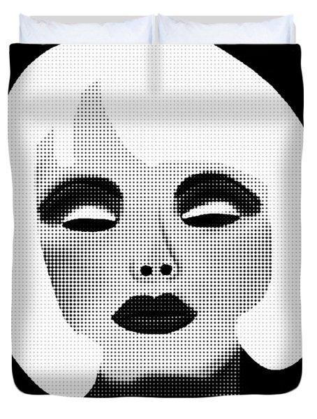 Bold Blonde Beauty Duvet Cover