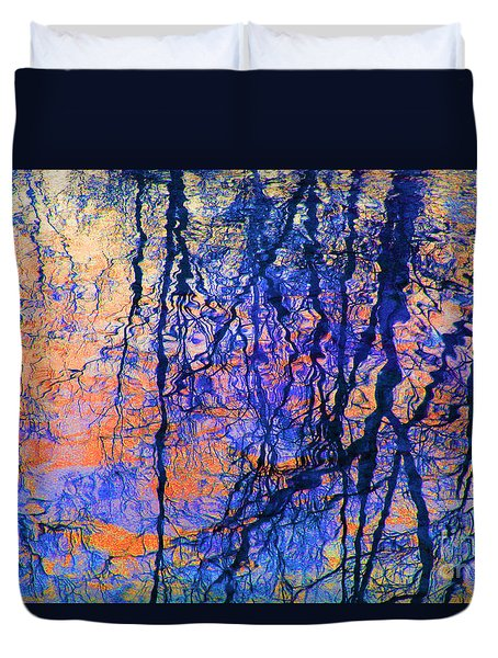 Bold Tree Reflections Duvet Cover