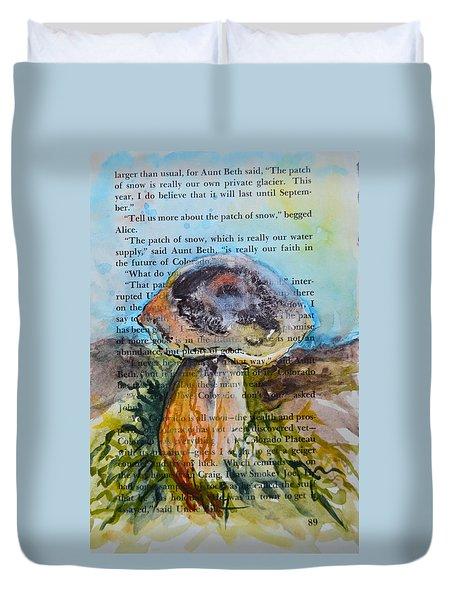Boletus Edulis Duvet Cover by Beverley Harper Tinsley