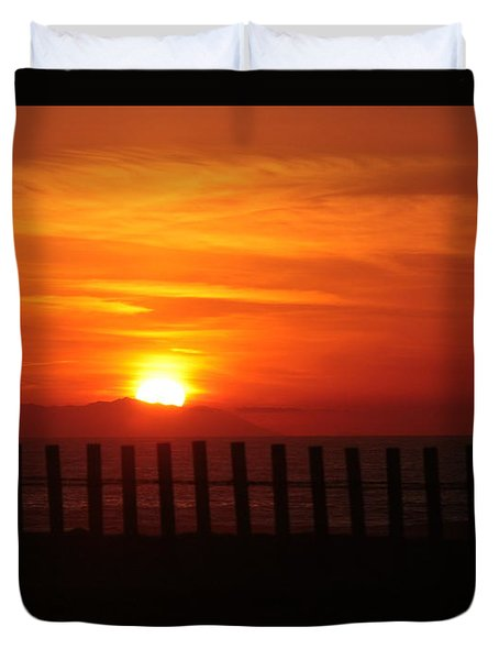Bolsa Chica Sunset Duvet Cover by Joanne Coyle