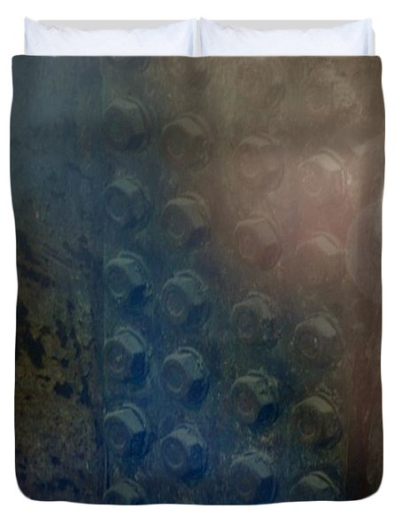 Bolts On The Trident Duvet Cover by Rob Hans