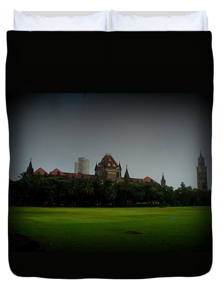 Duvet Cover featuring the photograph Bombay High Court by Salman Ravish