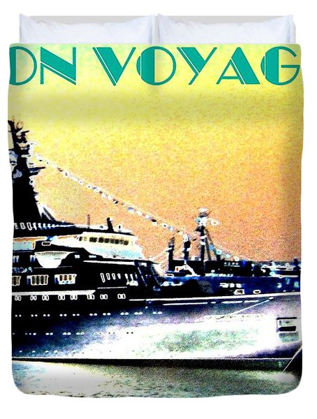 Bon Voyage Duvet Cover by Will Borden