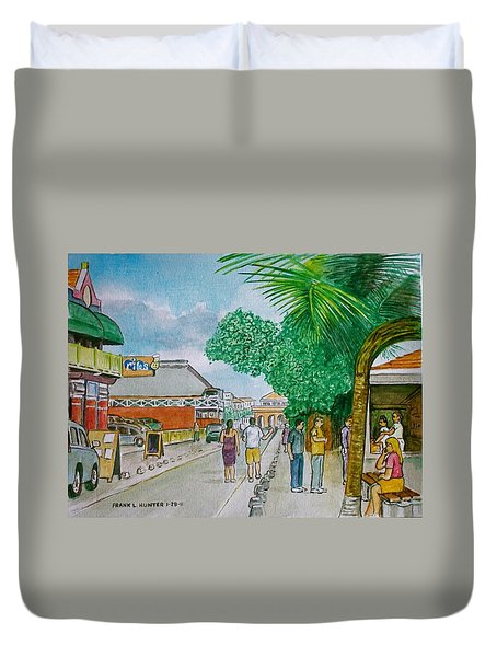 Bonaire Street Duvet Cover by Frank Hunter