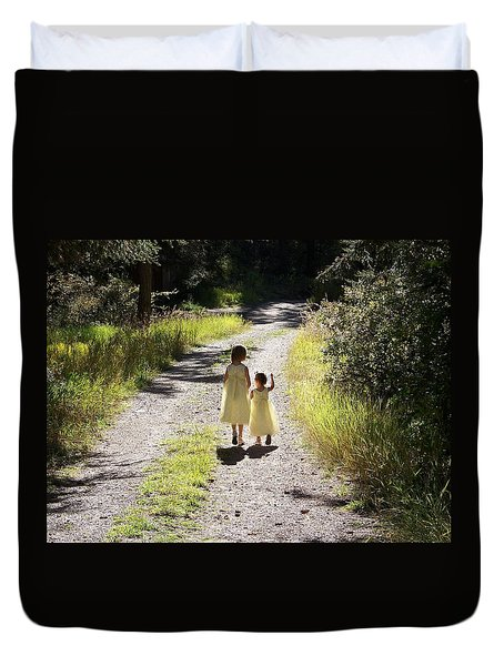 Bond Between Sisters Duvet Cover by Sheri Keith
