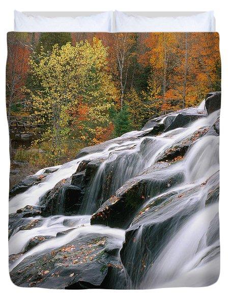 Bond Falls Upper Peninsula Michigan Duvet Cover