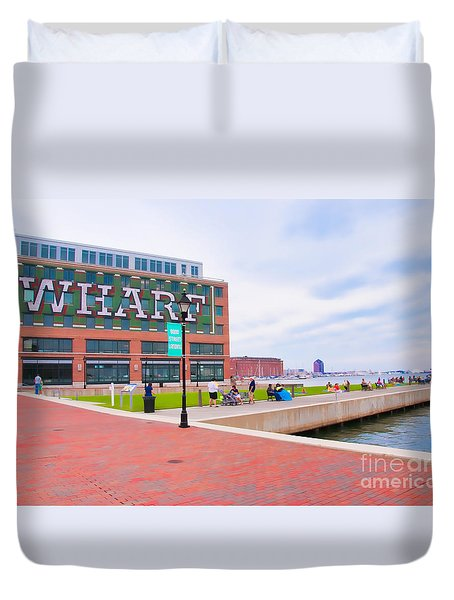 Bond Street Landing Baltimore Maryland Duvet Cover by Vizual Studio