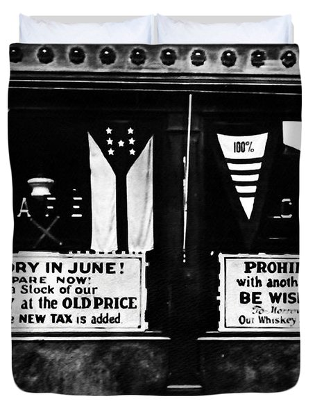 Bone Dry In June - Prohibition Sale Duvet Cover by Bill Cannon