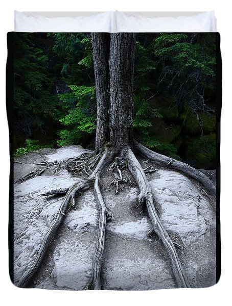 Duvet Cover featuring the photograph Bones by David Andersen