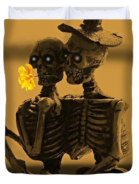 Bones In Love  Duvet Cover by David Dehner
